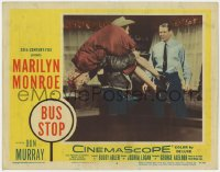 3r0020 BUS STOP LC #6 1956 c/u of Don Murray carrying sexy Marilyn Monroe over his shoulder!