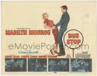 3r0005 BUS STOP TC 1956 sexy smiling Marilyn Monroe held by cowboy Don Murray + 4 inset scenes!