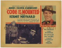 3r0712 CODE OF THE MOUNTED TC 1935 Kermit Maynard as a Royal Canadian Mountie, ultra rare!