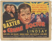 3r0716 CRIME DOCTOR TC 1943 detective Warner Baxter has amnesia and doesn't know who he is!