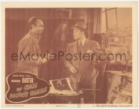 3r1072 CRIME DOCTOR'S GAMBLE LC #5 1947 Warner Baxter smiling at artist in his Parisian studio!