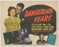 3r0006 DANGEROUS YEARS TC 1948 young Marilyn Monroe shown in her very first movie!