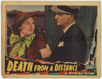 3r1089 DEATH FROM A DISTANCE LC 1935 close up of Russell Hopton grabbing pretty Lola Lane!