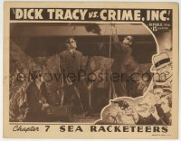 3r1094 DICK TRACY VS. CRIME INC. chapter 7 LC 1941 guys with cool goggles cutting girder with torch!