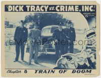 3r1095 DICK TRACY VS. CRIME INC. chapter 8 LC 1941 Ralph Byrd & police wait for the Train of Doom!