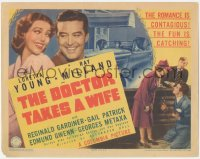 3r0733 DOCTOR TAKES A WIFE TC 1940 Ray Milland & sexy Loretta Young, the romance is contagious!