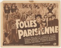 3r0759 FOLIES PARISIENNES TC 1940 Leon Belasco, Universal night club variety show, ultra rare!