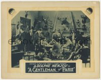 3r1147 GENTLEMAN OF PARIS LC R1920s Adolphe Menjou surrounded by men in hunting lodge w/taxidermy!