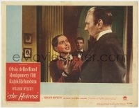 3r1171 HEIRESS LC #4 1949 William Wyler, Olivia de Havilland argues & Montgomery Clift looks on!