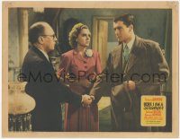 3r1174 HERE I AM A STRANGER LC 1939 Brenda Joyce watches Richard Greene shake hands w/Roland Young!