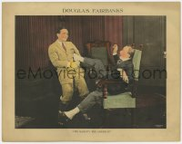 3r1179 HIS MAJESTY THE AMERICAN LC 1919 happy Douglas Fairbanks pulls older man out of chair!