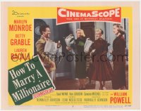 3r0025 HOW TO MARRY A MILLIONAIRE LC #3 1953 Mitchell, Marilyn Monroe, Betty Grable & Lauren Bacall!