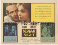 3r0845 MIDDLE OF THE NIGHT TC 1959 sexy young Kim Novak is involved with much older Fredric March!