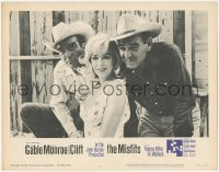 3r0027 MISFITS LC #1 1961 sexy Marilyn Monroe between Clark Gable & Montgomery Clift, John Huston!