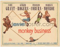 3r0013 MONKEY BUSINESS TC 1952 Marilyn Monroe, Cary Grant, Ginger Rogers, Charles Coburn!