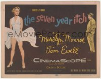 3r0002 SEVEN YEAR ITCH TC 1955 Billy Wilder, classic image of sexy Marilyn Monroe with skirt blowing!