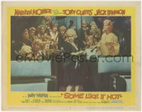 3r0019 SOME LIKE IT HOT LC #8 1959 sexy Marilyn Monroe with Tony Curtis, Jack Lemmon & band!