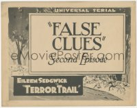 3r0933 TERROR TRAIL chapter 2 TC 1921 Eileen Sedgwick, Universal serial, False Clues, very rare!