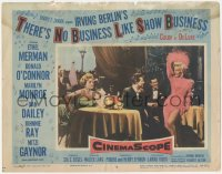 3r0037 THERE'S NO BUSINESS LIKE SHOW BUSINESS LC #6 1954 Donald O'Connor watches sexy Marilyn Monroe