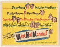 3r0017 WE'RE NOT MARRIED TC 1952 artwork of Ginger Rogers, sexy young Marilyn Monroe & others!