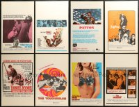 3s0038 LOT OF 16 WINDOW CARDS 1960s-1970s great images from a variety of different movies!