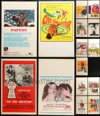 3s0039 LOT OF 15 WINDOW CARDS 1960s-1970s great images from a variety of different movies!
