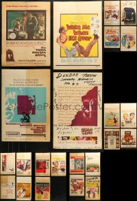 3s0031 LOT OF 31 WINDOW CARDS 1950s-1960s great images from a variety of different movies!