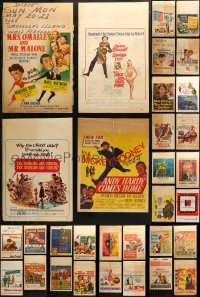 3s0029 LOT OF 40 WINDOW CARDS 1950s-1960s great images from a variety of different movies!
