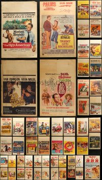 3s0026 LOT OF 57 WINDOW CARDS 1950s-1960s great images from a variety of different movies!