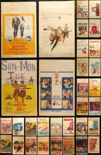 3s0028 LOT OF 46 WINDOW CARDS 1950s-1960s great images from a variety of different movies!