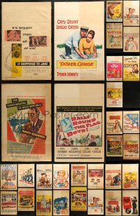 3s0030 LOT OF 35 WINDOW CARDS 1950s-1960s great images from a variety of different movies!