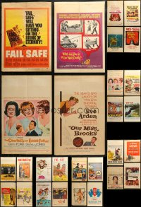 3s0027 LOT OF 48 WINDOW CARDS 1950s-1960s great images from a variety of different movies!