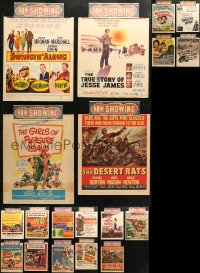 3s0035 LOT OF 23 TRIMMED WINDOW CARDS 1950s great images from a variety of different movies!