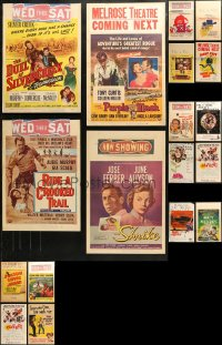 3s0032 LOT OF 26 WINDOW CARDS 1950s great images from a variety of different movies!