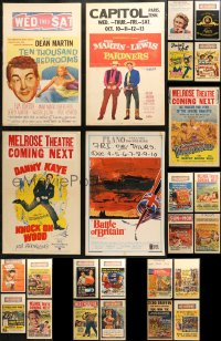 3s0033 LOT OF 25 WINDOW CARDS 1950s great images from a variety of different movies!