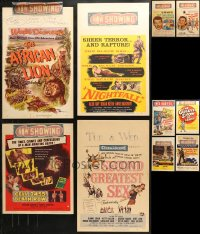 3s0036 LOT OF 18 WINDOW CARDS 1960s great images from a variety of different movies!