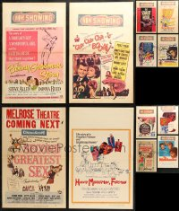 3s0037 LOT OF 17 WINDOW CARDS 1950s great images from a variety of different movies!