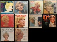 3s0016 LOT OF 10 DORIS DAY 33 1/3 RPM RECORDS 1960s albums sung by the famous actress!