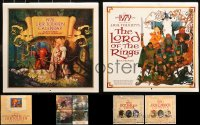 3s0006 LOT OF 5 J.R.R. TOLKIEN CALENDARS 1970s-1980s art for Lord of the Rings & more fantasy!