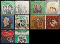 3s0018 LOT OF 10 33 1/3 RPM RADIO SHOW RECORDS 1970s Martin & Lewis, Durante, I Love Lucy & more!