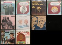 3s0020 LOT OF 9 33 1/3 RPM RADIO SHOW RECORDS 1970s Abbott & Costello, Groucho Marx & more!