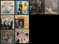 3s0022 LOT OF 8 33 1/3 RPM RADIO SHOW RECORDS 1970s-1980s Gene Autry, Tom Mix, Barrymore & more!