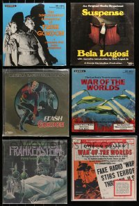 3s0024 LOT OF 6 33 1/3 RPM RADIO SHOW RECORDS 1960s-1980s Flash Gordon, War of the Worlds, Lugosi!