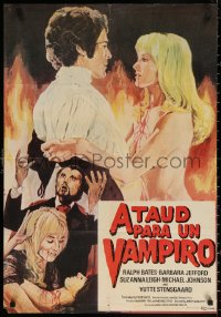 3t0034 LUST FOR A VAMPIRE Colombian poster 1971 sexy devils in female bodies with the kiss of death!