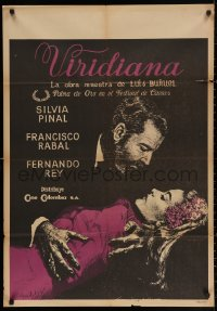 3t0036 VIRIDIANA Colombian poster 1961 directed by Luis Bunuel, Silvia Pinal & Francisco Rabal!