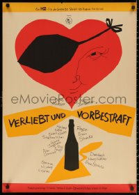 3t0007 VERLIEBT UND VORBESTRAFT East German 23x32 1963 Erwin Stranka, different cool art!