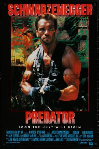 3t0028 PREDATOR Japanese 26x40 1987 Arnold Schwarzenegger sci-fi, like nothing on Earth!