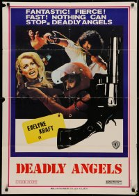 3t0012 DEADLY ANGELS Lebanese 1976 Shaw Bros, Qiao Tan Nu Jiao Wa, sexy kung fu girls, look out Charlie!