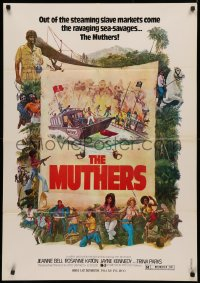 3t0013 MUTHERS Lebanese 1976 blaxploitation, wild action artwork of female heroes!