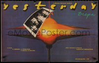 3t0052 YESTERDAY Russian 22x35 1989 Ivan Andonov's Vchera, completely different image w/the Beatles!